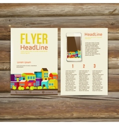 Abstract brochure flyer design template vector
