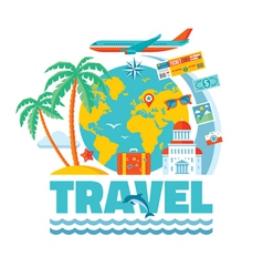 Travel - concept in flat style vector