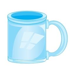 Mug glass vector