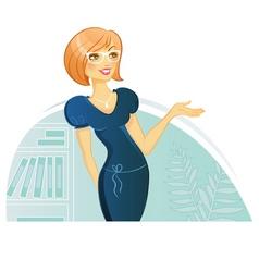 Woman presentation vector