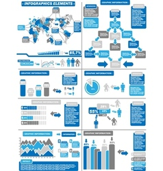 Infographic demographics blue 11 vector