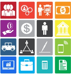 Collection business icon vector