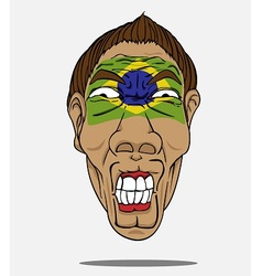 Football fan from brazil vector