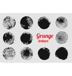 Grunge circle element set stamp stain texture vector