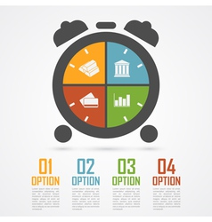 Alarm clock infographic vector