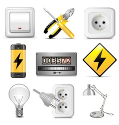 Electrical icons vector