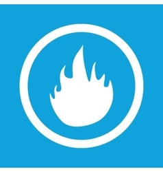 Fire sign icon vector