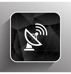 Radar icon satellite dish tv technology vector