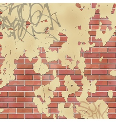 Wall with plaster vector