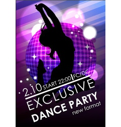 Dance party poster or flyer template vector