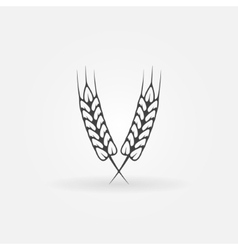 Ears of wheat logo or icon vector