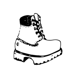 Hand drawn boot vector