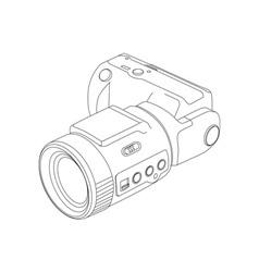 Camera line drawing vector