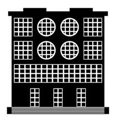 The building icon vector