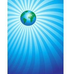 Earth focus vector