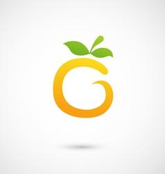 Orange icon - alphabet shape o vector