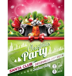 Christmas party design with holiday elements vector