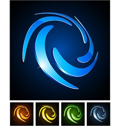 Color vibrant emblems vector
