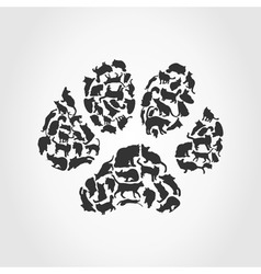 Cat paw print vector