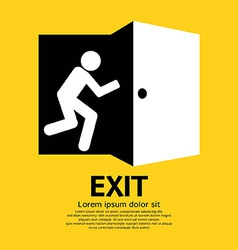 Exit graphic sign vector