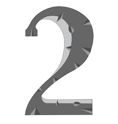 Numeral two vector