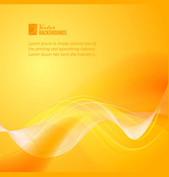 Orange smooth light lines vector