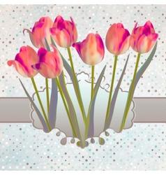 Ornate pink frame decoration eps 10 vector