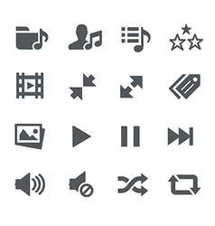 Media player icons - apps interface vector