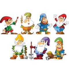 Funny gnomes vector