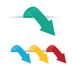 Arrows set vector