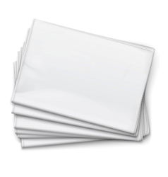 Blank newspapers pile on white background vector