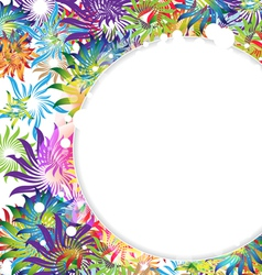 Abstract spring flowers vector