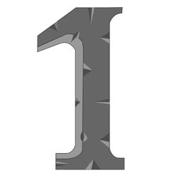 Numeral one vector