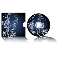 Cd label with the treble clef vector