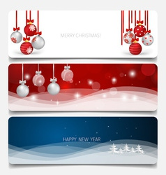 Holiday gift coupons with christmas tree and vector