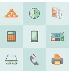 Flat business icons vector