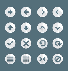 Flat style various navigation menu buttons icons vector