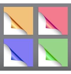 Paper corner set vector