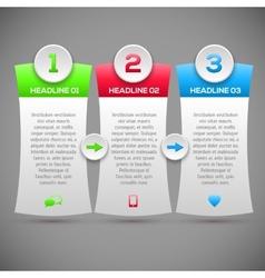 Modern infographics options banner modern design vector