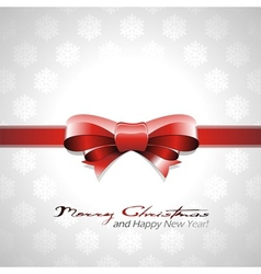 Red bow christmas background vector