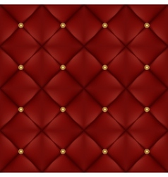Upholstery seamless pattern with gold buttons vector