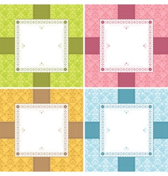 Square frame decorations vector