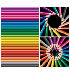 Pencils collage vector
