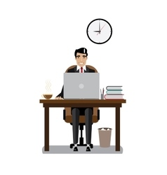 Workplace businessman vector