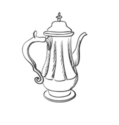 Doodle coffee pot vector