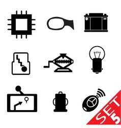 Car part icon set 5 vector