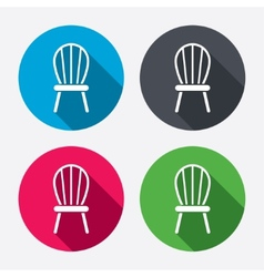 Chair sign icon modern furniture symbol vector