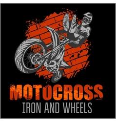 Motocross sport - grunge poster vector
