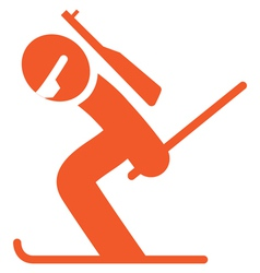 Biatlon icon vector