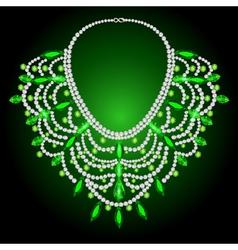 Feminine vintage necklace vector